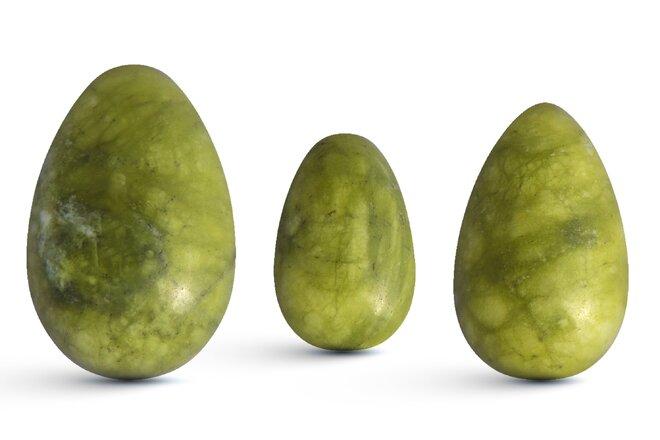 Sada 3 Yoni vajíček – jadeit