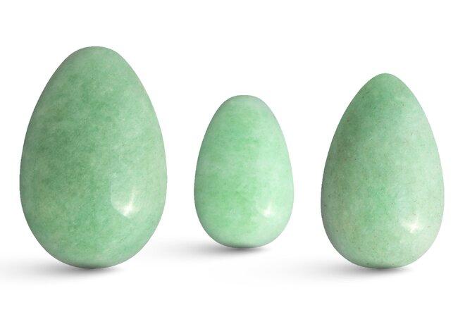 Sada 3 Yoni vajíček – avanturín