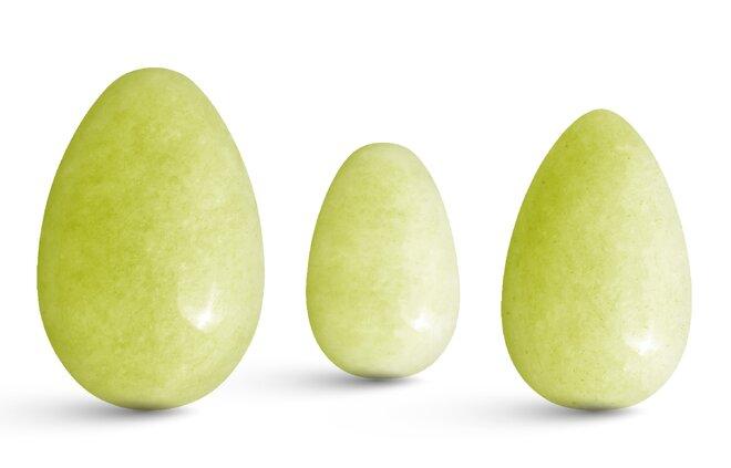 Sada 3 Yoni vajíček – olivový jadeit
