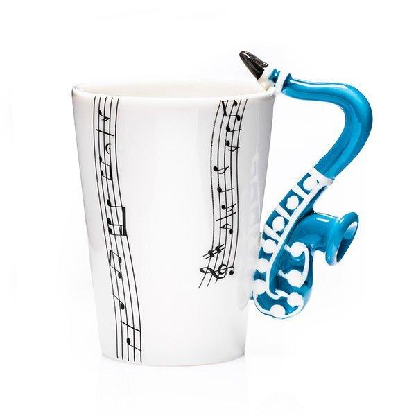 Hudební hrnek – saxofon