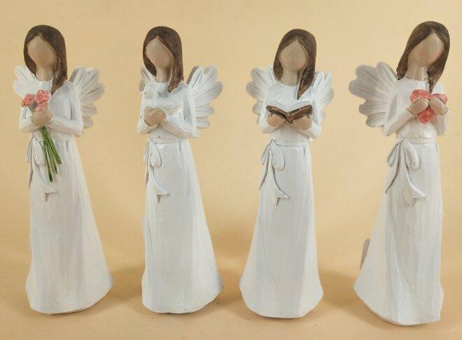 Sada 4 andělů (20 cm)