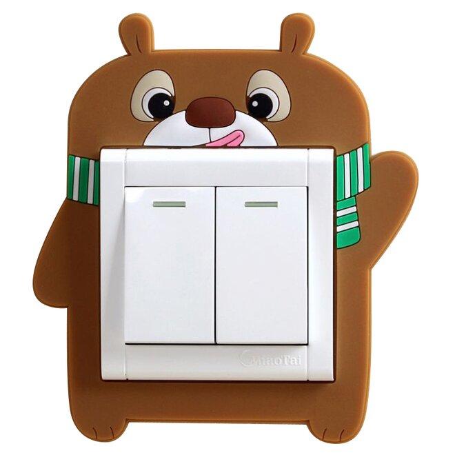 Ozdoba na vypínač – medvěd