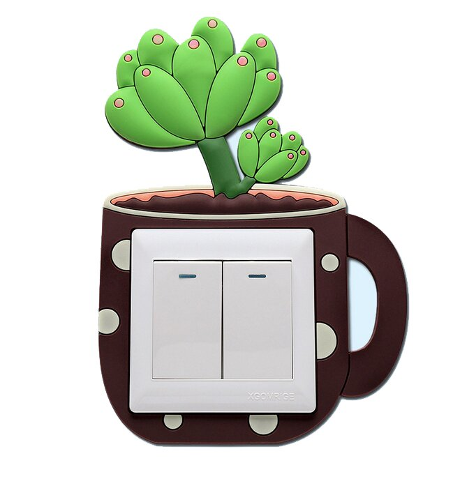 Ozdoba na vypínač – kaktus 2