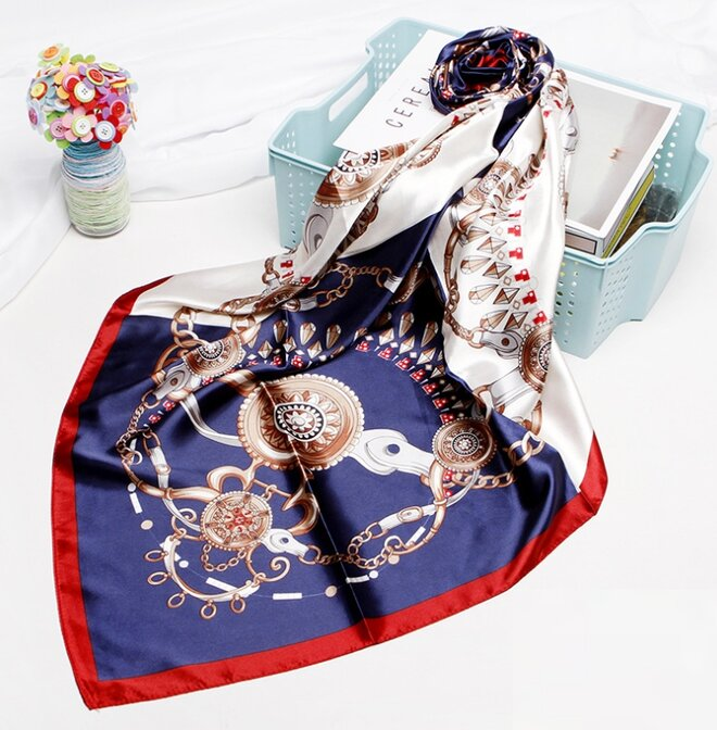 Saténový šátek - vzor 8
