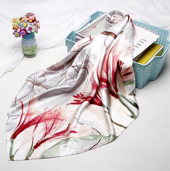 Saténový šátek - vzor 10