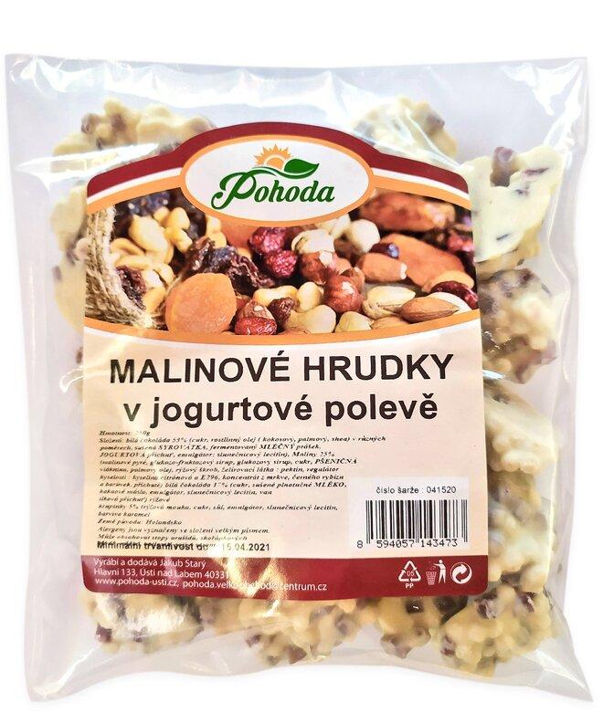 Hrudky malinové v jogurtové polevě, 250 g