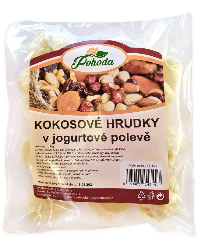 Hrudky kokosové v jogurtové polevě, 250 g