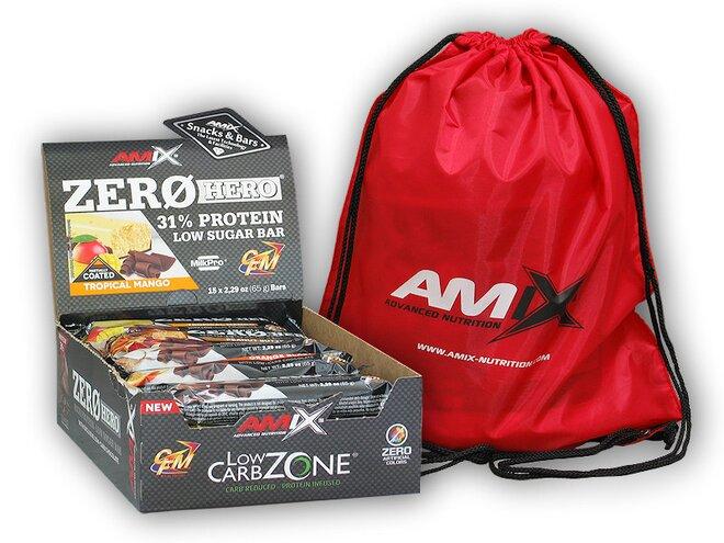 15x Zero Hero High Protein Low Sugar Bar 65 g + Amix BAG
