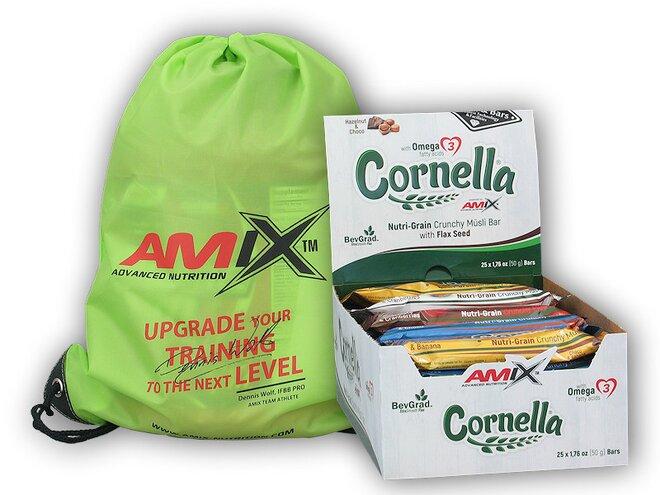 25x Cornella Crunchy Muesli Bar 50 g + Amix BAG