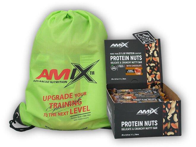 25x Protein Nuts Crunchy 40 g + Amix BAG