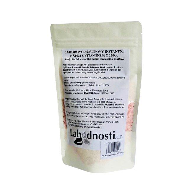 Jahodovo-malinový instantní nápoj s vitamínem C, 150 g