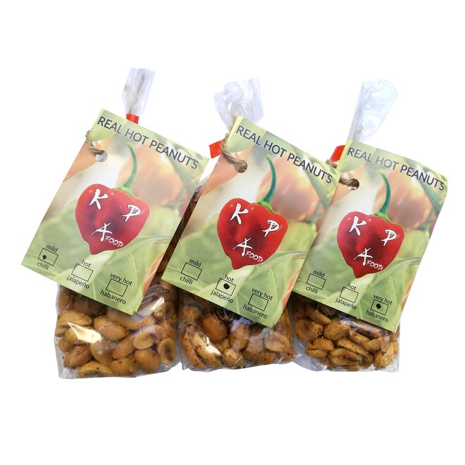 Variace tří příchutí chilli arašídů (3x 100 g)