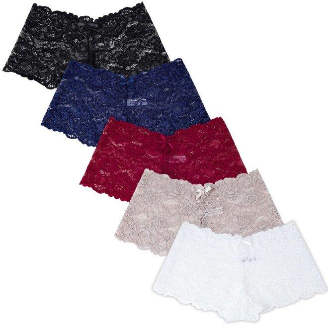 Krajkové kalhotky - 5 ks