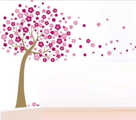 Dětské samolepky na zeď - Kvetoucí strom