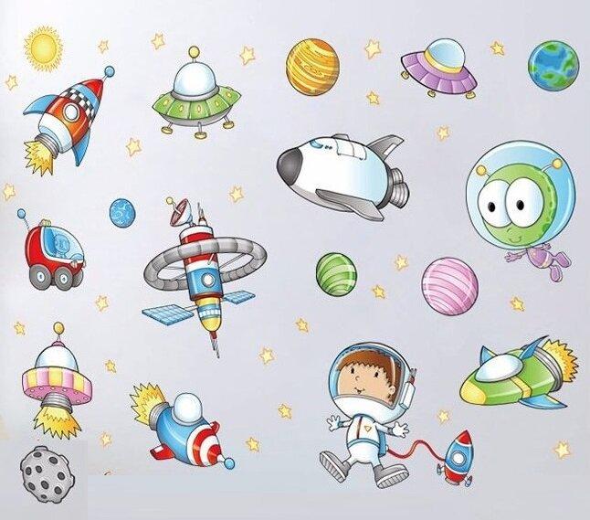 Dětské samolepky na zeď - Vesmír