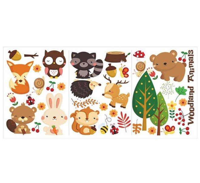 Dětské samolepky na zeď - Zvířátka malá lesní