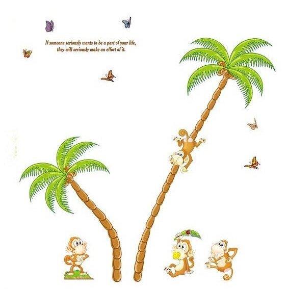 Dětské samolepky na zeď - Opičí ráj