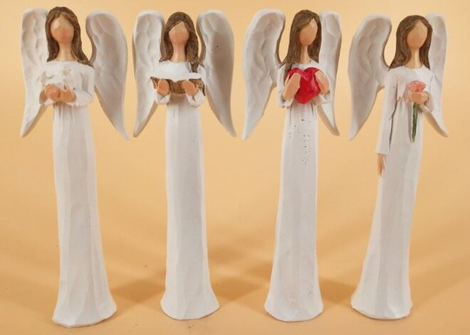 Sada 4 andělů (14 cm)