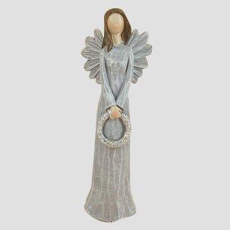 Anděl s věnečkem, 15 cm (4 ks)