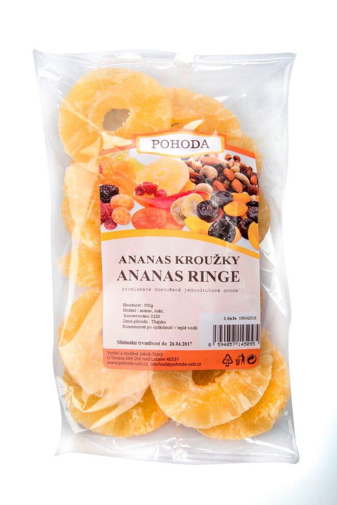 Ananas kroužky, 500 g