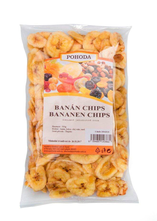 Banánové chipsy, 500 g