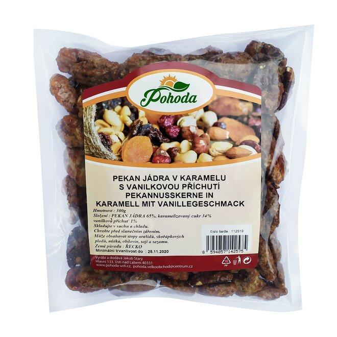 Pekany v karamelu s vanilkovou příchutí, 300 g
