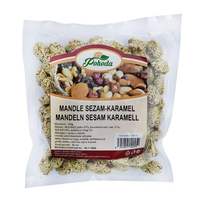 Mandle sezam a karamel, 300 g