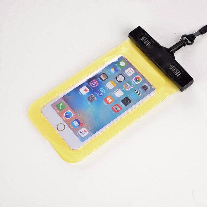Vodotěsné pouzdro na mobil nebo doklady žluté