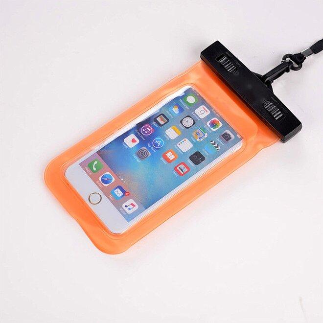 Vodotěsné pouzdro na mobil nebo doklady oranžové