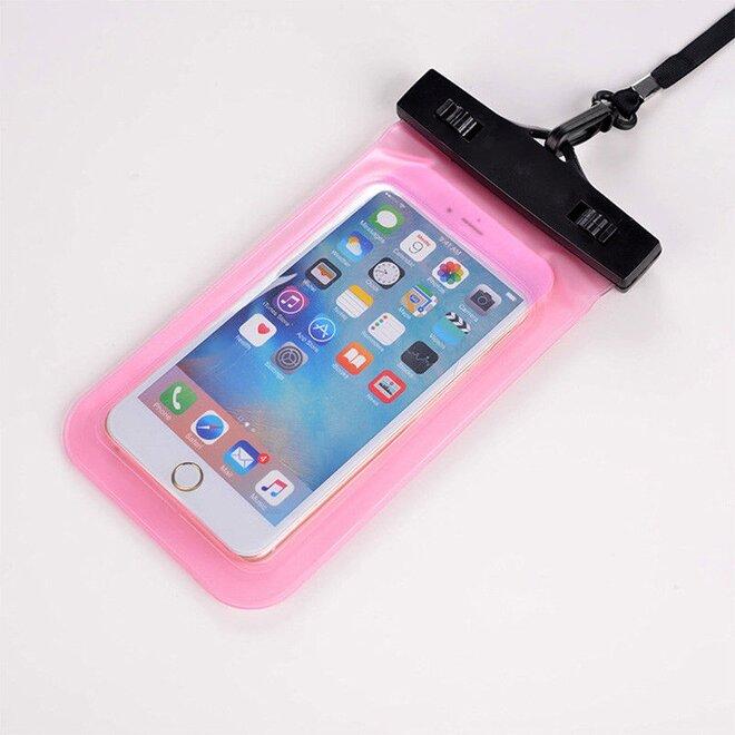 Vodotěsné pouzdro na mobil nebo doklady růžové