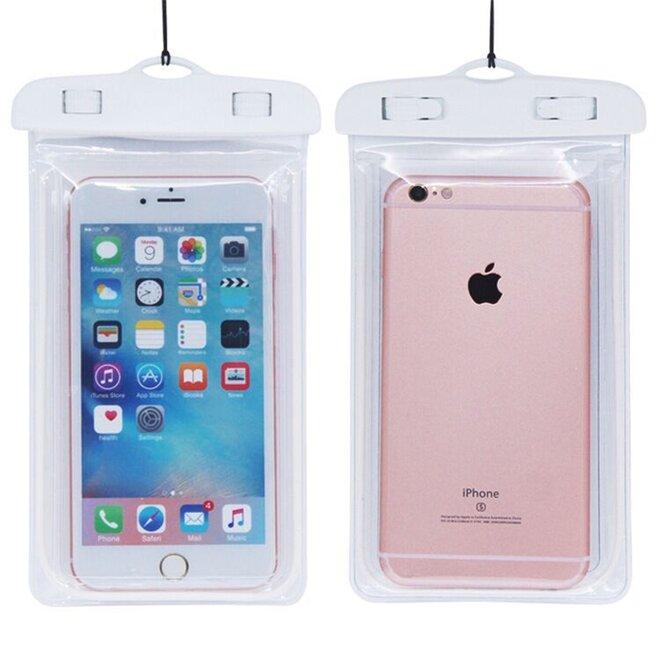Vodotěsné pouzdro na mobil nebo doklady XL bílé / transparentní
