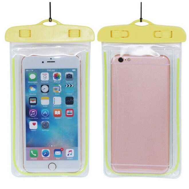 Vodotěsné pouzdro na mobil nebo doklady XL žluté