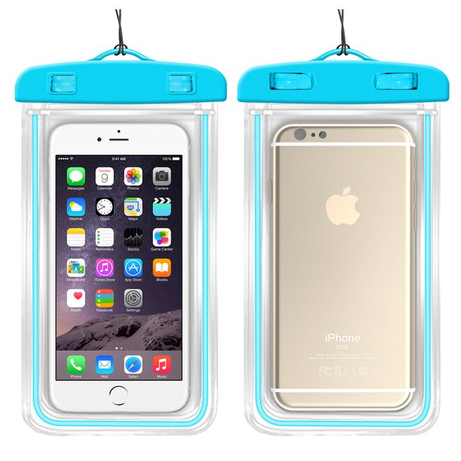 Vodotěsné pouzdro na mobil nebo doklady XL modré