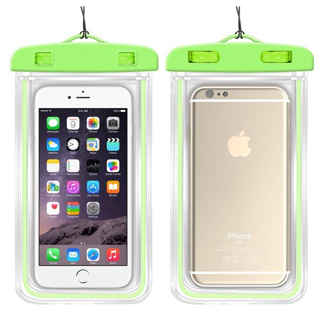 Vodotěsné pouzdro na mobil nebo doklady XL zelené