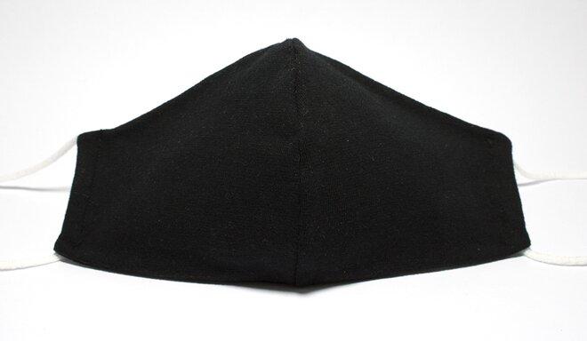 Rouška úpletová černá