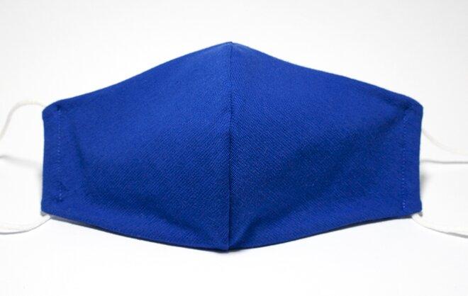 Rouška úpletová modrá