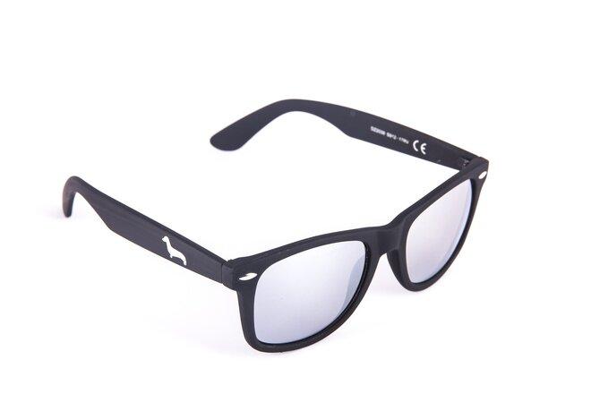 Černé matné brýle Kašmir Wayfarer W08 - skla zrcadlová