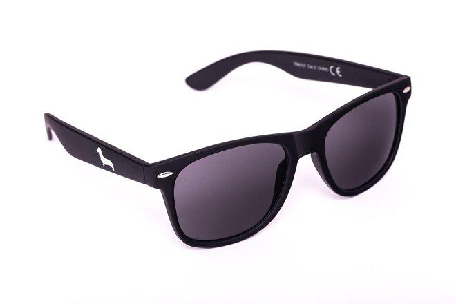 Černé matné brýle Kašmir Wayfarer W02 - skla tmavá