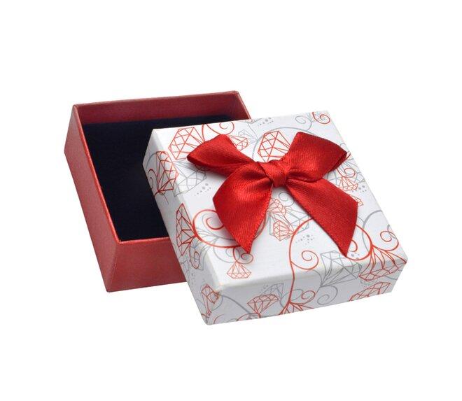 Dárková krabička - červená s mašličkou