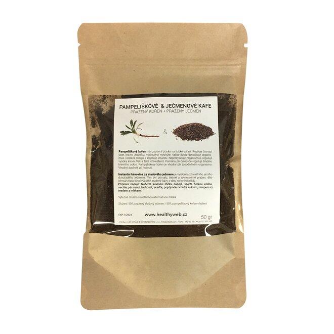 Směs pampeliškového a ječmenného kafe - mletá, 50 g