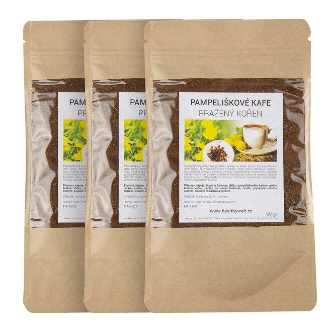 Pampeliškové kafe – mleté, 3 × 50 g