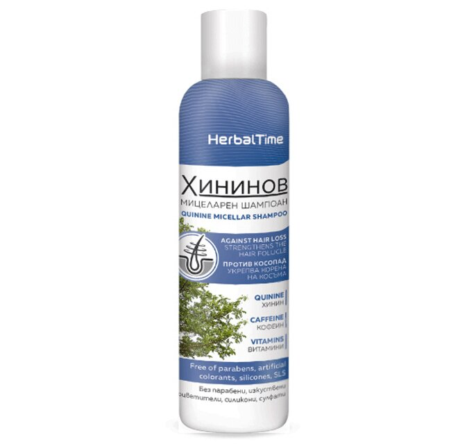 Herbal Time - Chininový micelární šampon, 200 ml