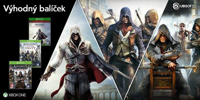 Balíček pro Xbox One: Assassin's Creed kolekce – Unity, Syndicate, The Ezio Collection