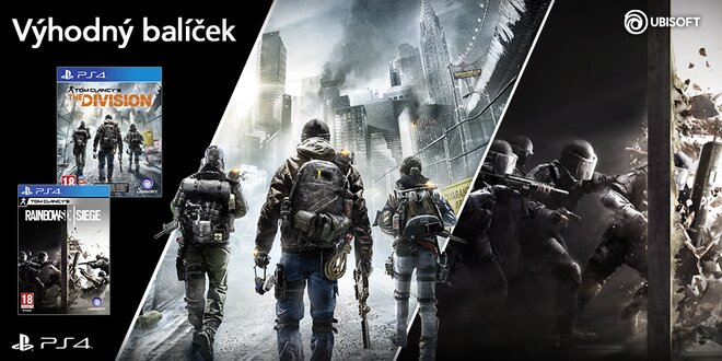 Balíček pro PS4: The Division a Rainbow Six Siege