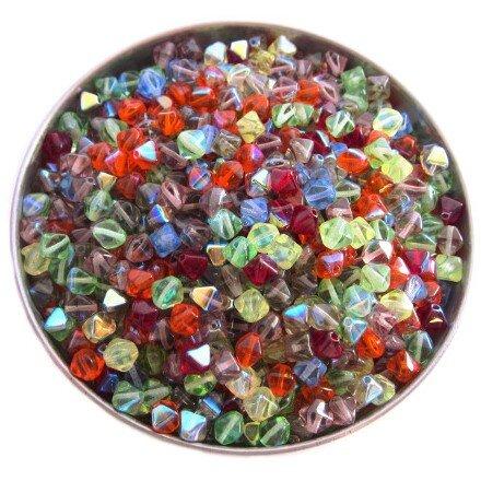 Mix skleněných luceren s pokovem AB