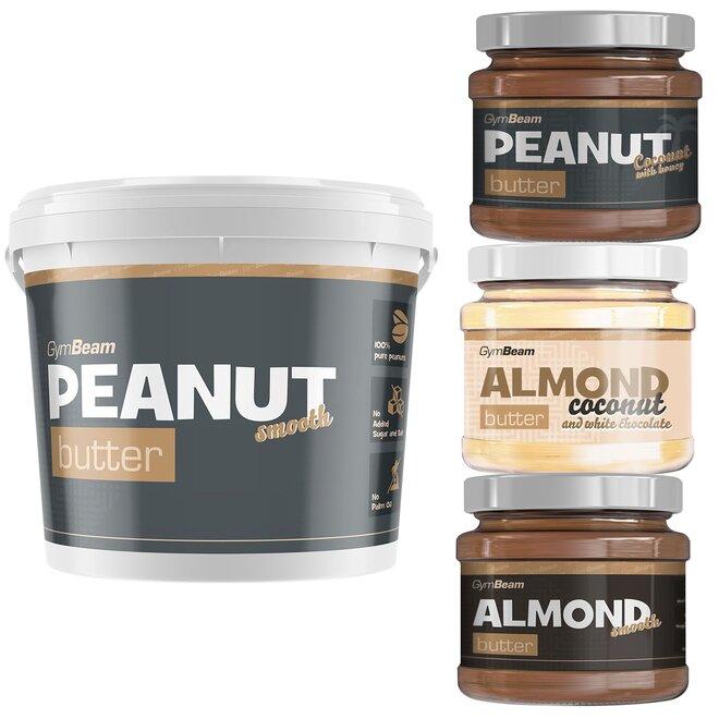 Balíček 4 ořechových másel – smooth