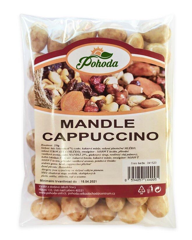 Mandle v cappuccino čokoládě, 250 g