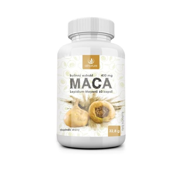 Allnature Maca – bylinný extrakt (60 kapslí)