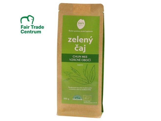 Bio zelený čaj Chun Mee Vzácné obočí z Číny, sypaný (100 g)