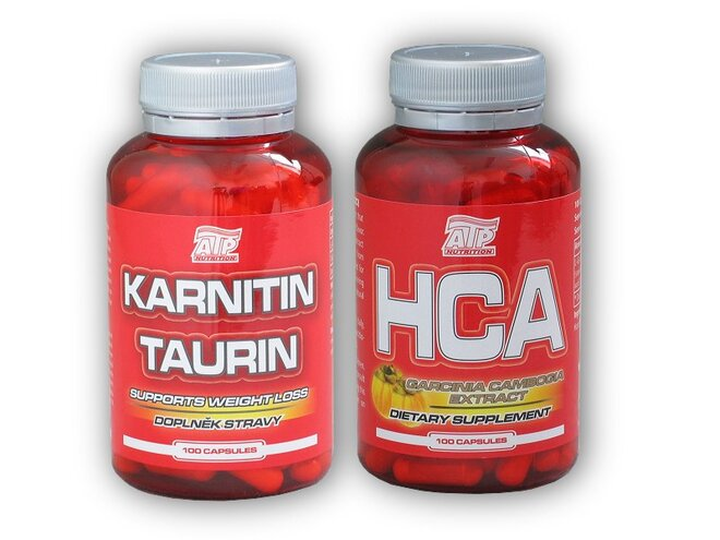 Karnitin Taurin 100 kapslí + HCA Garcinia Cambogia 100 kapslí